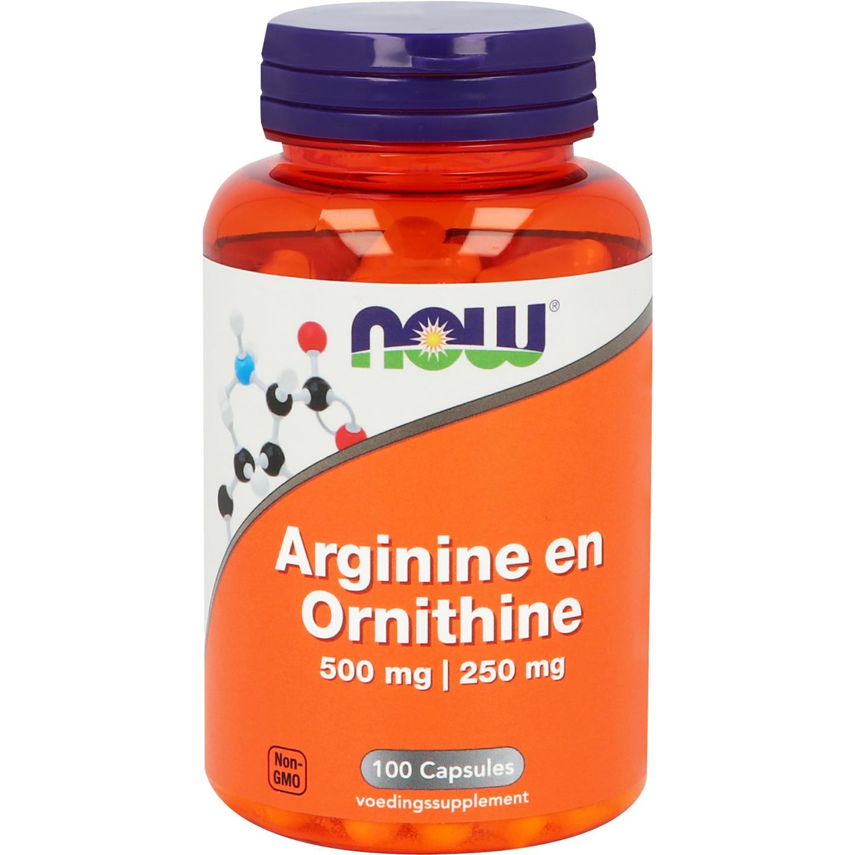 Now Arginine and Ornith 500 250 100caps