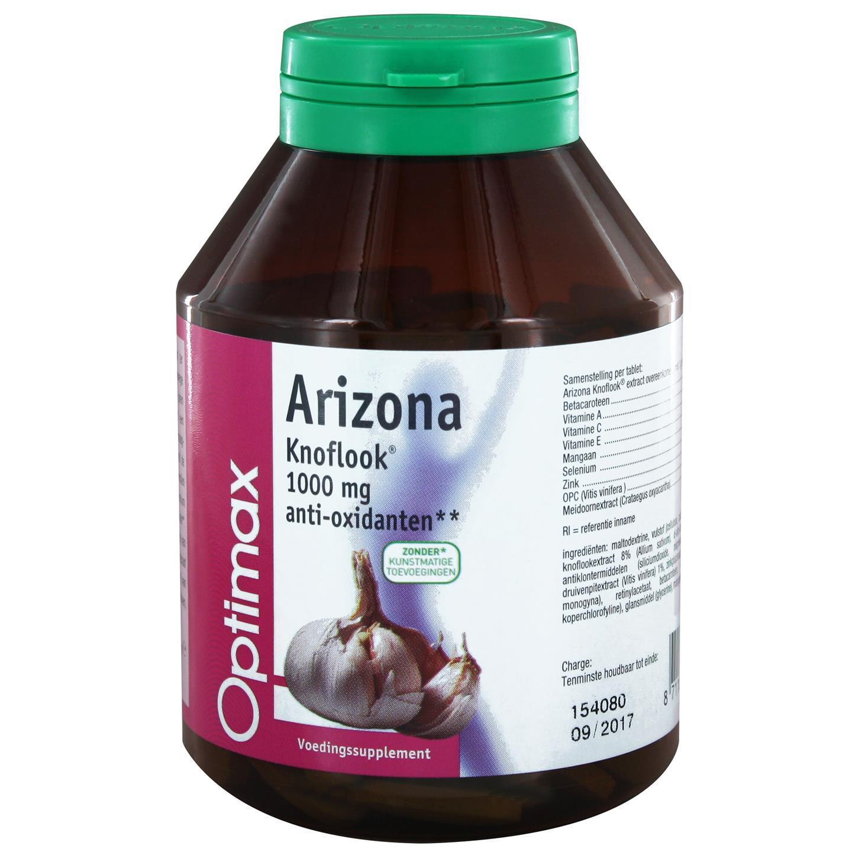 Optimax Arizona Knoflook Met Antioxidanten Vitamine A, C, E and Selenium 170tabl