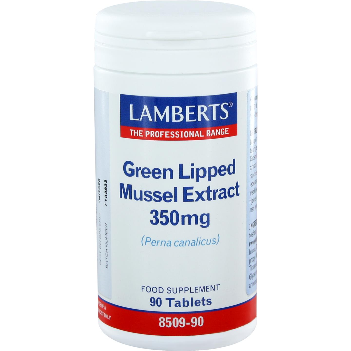 Green Lipped Mussel extract 350 mg